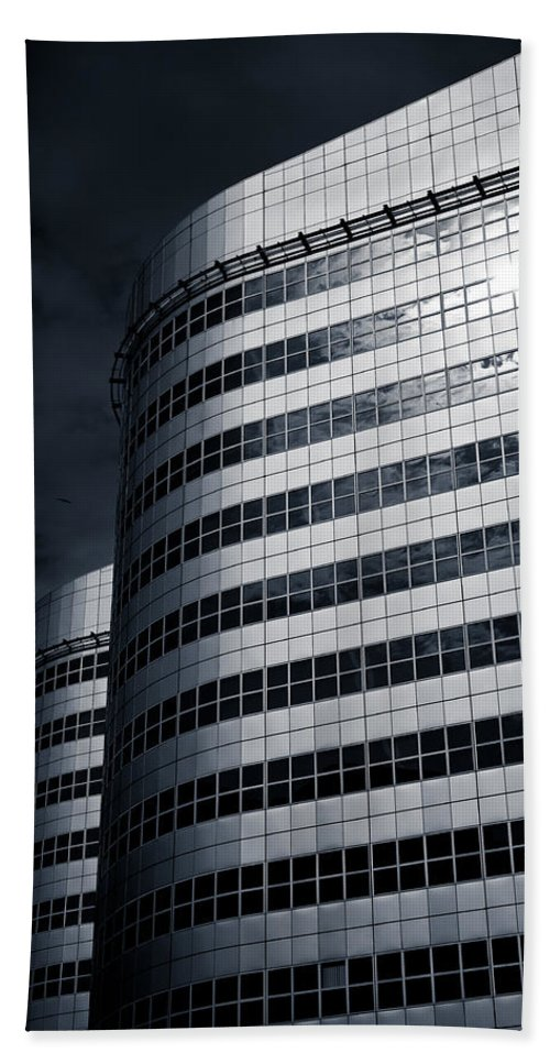 Architecture Beach Towel featuring the photograph Lines And Curves by Dave Bowman