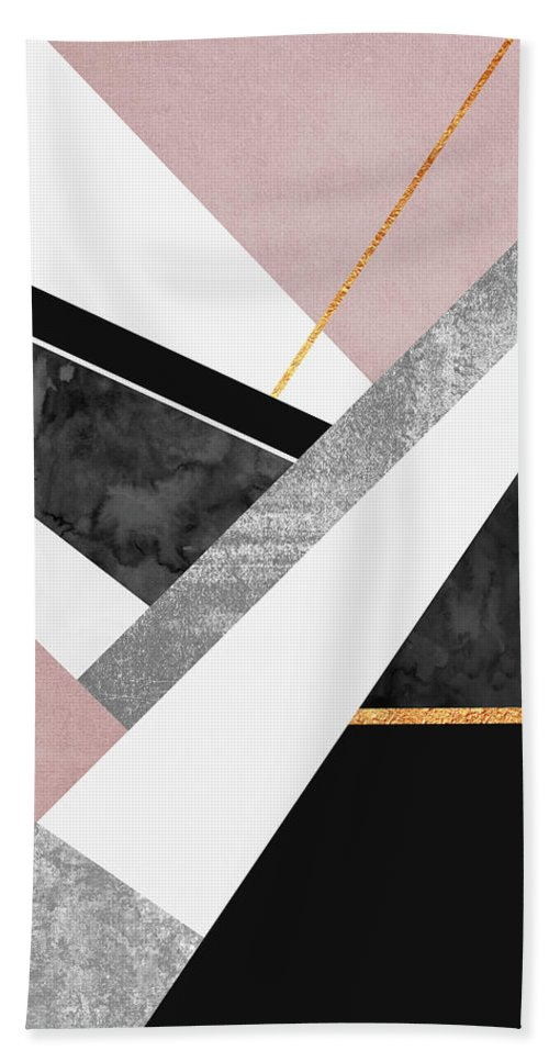 Digital Beach Towel featuring the digital art Lines and Layers by Elisabeth Fredriksson