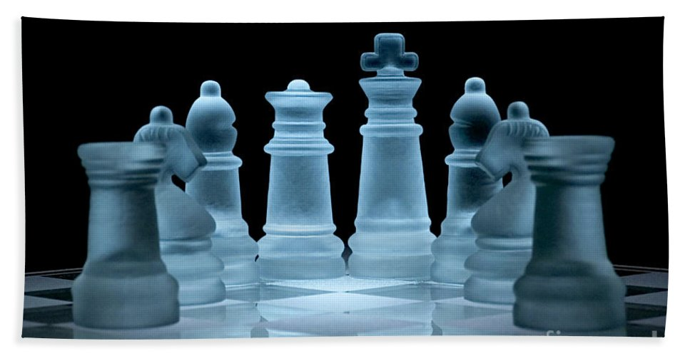 Chess Beach Towel featuring the photograph Lines Of Defence by Ann Garrett