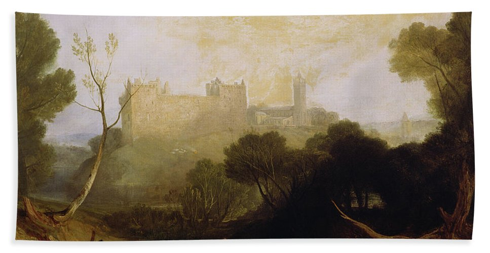 Linlithgow Palace Beach Towel featuring the painting Linlithgow Palace by Joseph Mallord William Turner