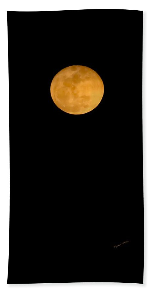 Lunar Beach Towel featuring the digital art Linten Moon by DigiArt Diaries by Vicky B Fuller