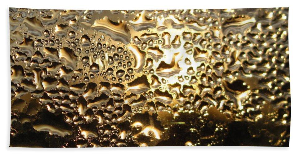 Liquid Gold Beach Towel featuring the photograph Liquid Gold by Joyce Dickens