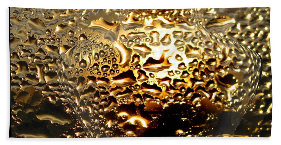 Liquid Gold Beach Towel featuring the photograph Liquid Gold Vase by Joyce Dickens