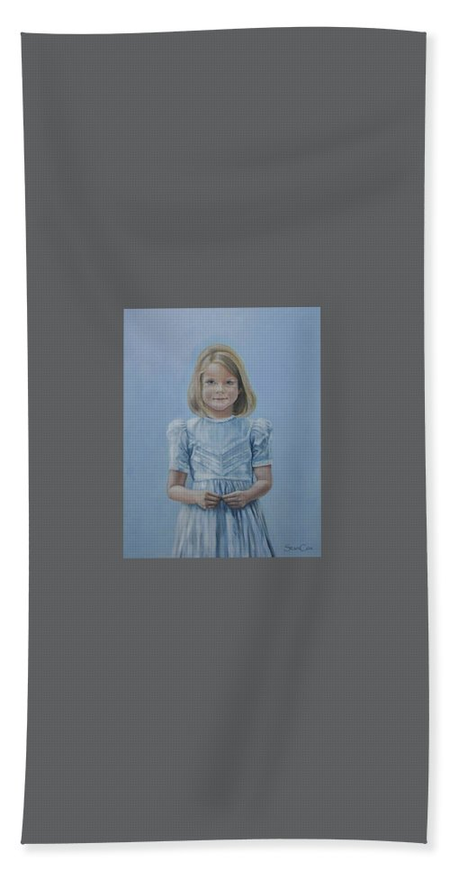 Beach Towel featuring the painting Lisa by Stan Cox