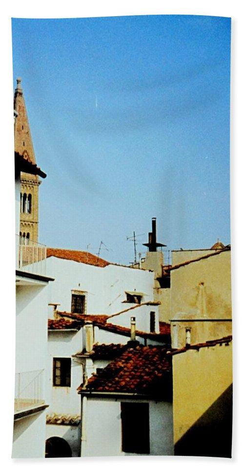 Lisbon Beach Towel featuring the photograph Lisbon Angles by Ian MacDonald