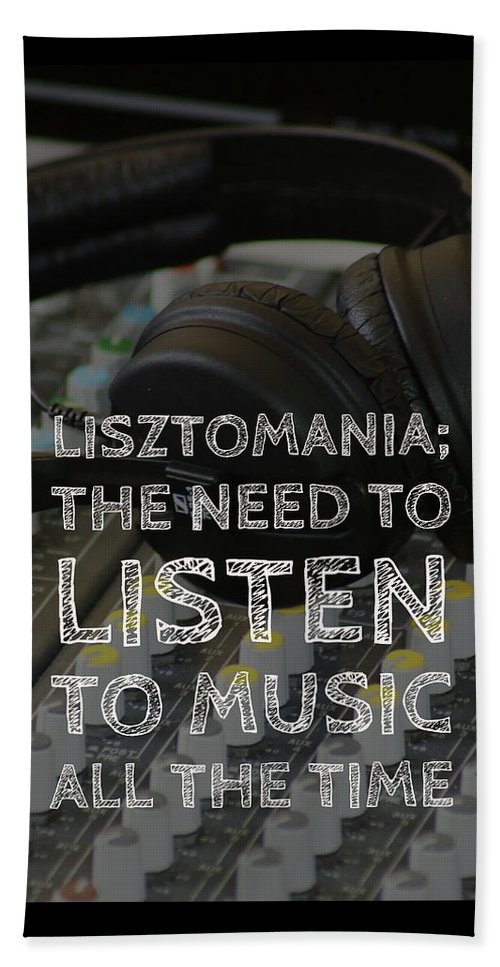 Typography Beach Towel featuring the photograph Lisztomania by Karen Cross