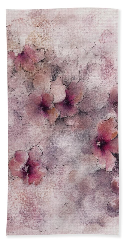 Blossoms Beach Towel featuring the painting Little Blossoms by William Russell Nowicki