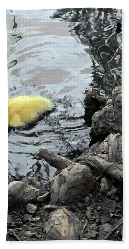 Duck Beach Towel featuring the photograph Little Ducky 2 by Angelina Vick