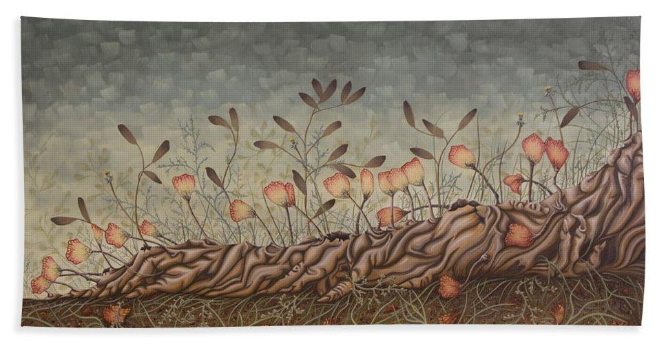 Sex Beach Sheet featuring the painting Little Gods by Judy Henninger