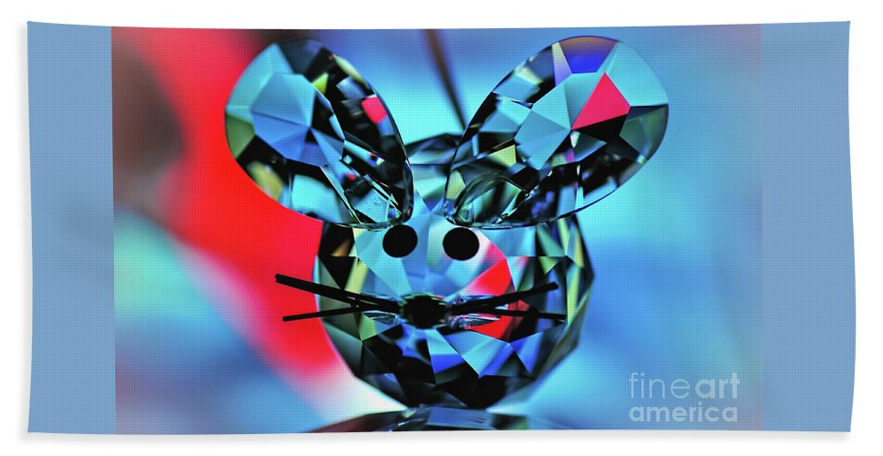 Photography Beach Towel featuring the photograph Little Mouse - Lead Crystal by Kaye Menner
