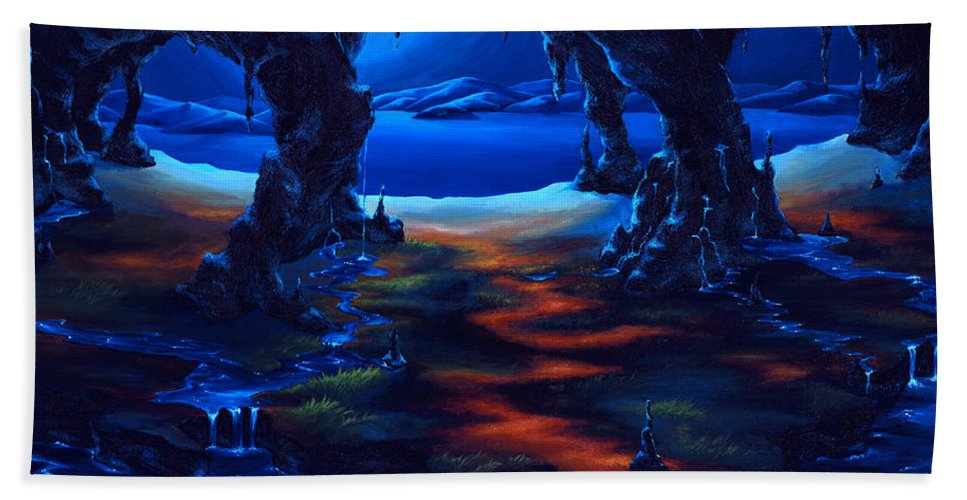 Textured Painting Beach Towel featuring the painting Living Among Shadows by Jennifer McDuffie