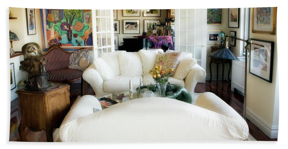 Living Room Beach Towel featuring the photograph Living Room Iv by Madeline Ellis