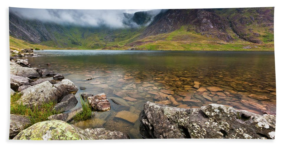 Beach Towel featuring the photograph Llyn Idwal #1, Cwm Idwal, Snowdonia, North Wales by Anthony Lawlor