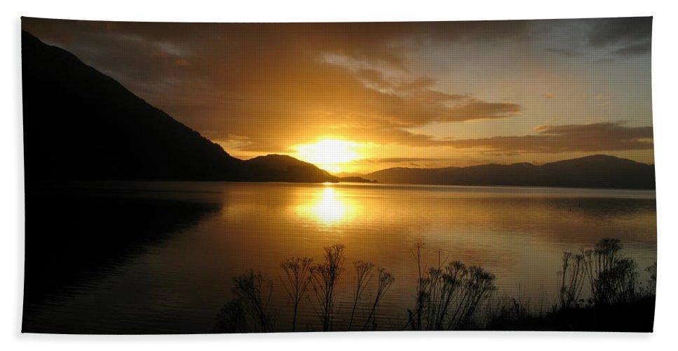 Highlands Beach Towel featuring the photograph Loch Awe by Maria Joy