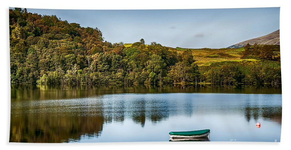 Loch Awe Beach Towel featuring the photograph Loch Awe Reflections by Chris Thaxter