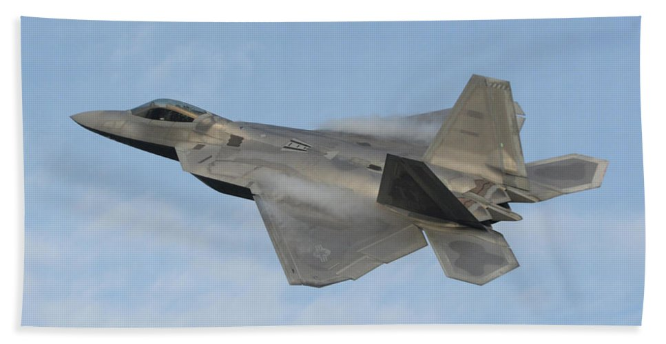 Science Beach Towel featuring the photograph Lockheed Martin F-22 Raptor, 2016 by Science Source