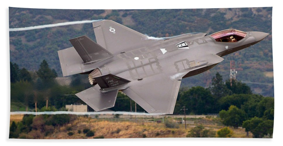Science Beach Towel featuring the photograph Lockheed Martin F-35 Lightning II, 2015 by Science Source