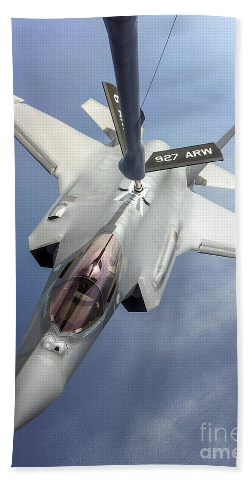 Science Beach Towel featuring the photograph Lockheed Martin F-35 Lightning II, 2016 by Science Source