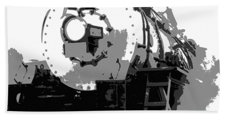 Locomotive Beach Towel featuring the mixed media Locomotion by Richard Rizzo