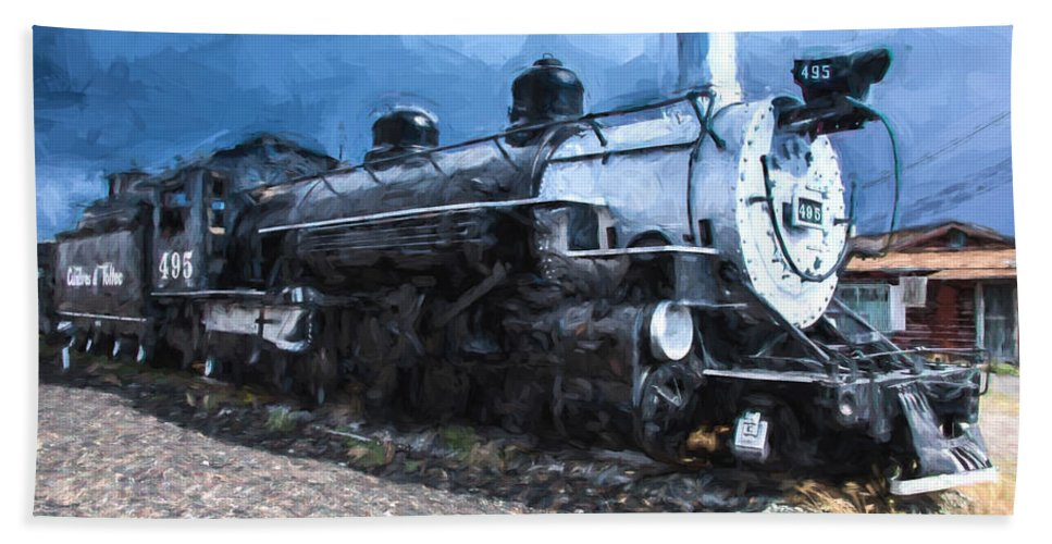 Antonitto Beach Towel featuring the photograph Locomotive 495 A Romantic View by JG Thompson
