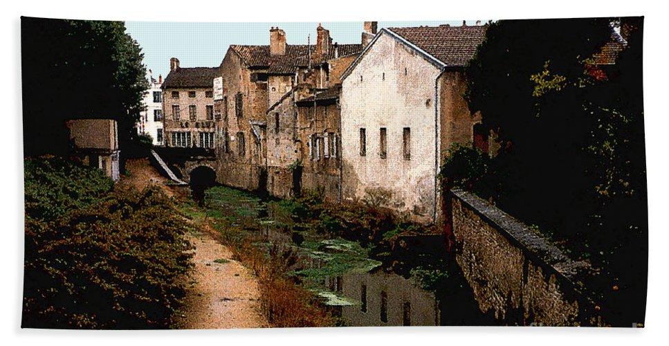 France Beach Sheet featuring the photograph Loire Valley Village Scene by Nancy Mueller