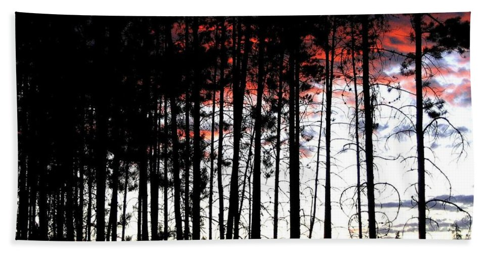 Sunset Beach Towel featuring the photograph Lone Butte Sunset by Will Borden