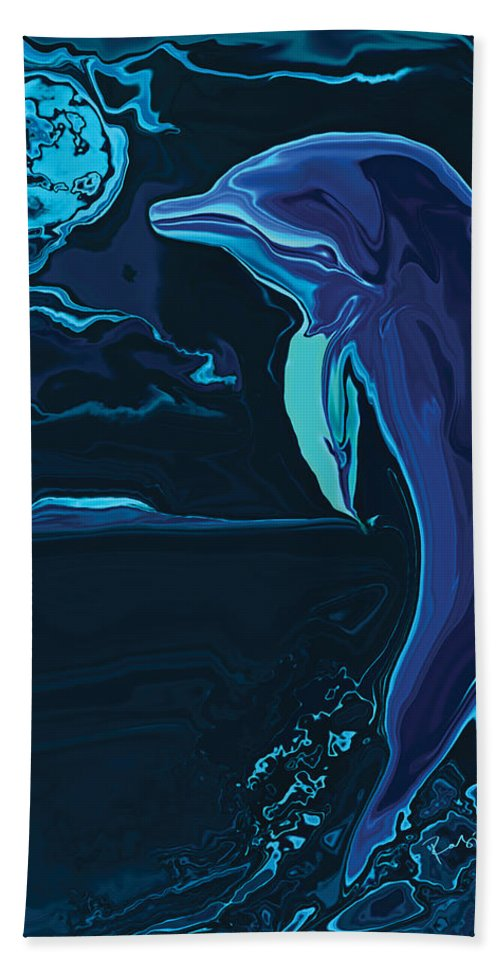Animal Beach Towel featuring the digital art Lonely Tonight by Rabi Khan