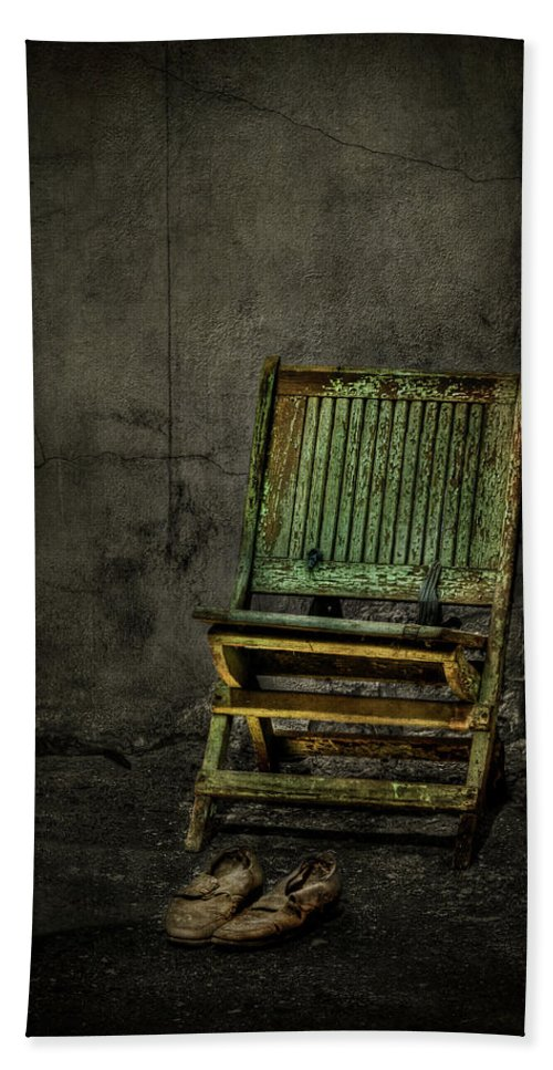 Chair Beach Towel featuring the photograph Long Is The Time. Hard Is The Road. by Evelina Kremsdorf