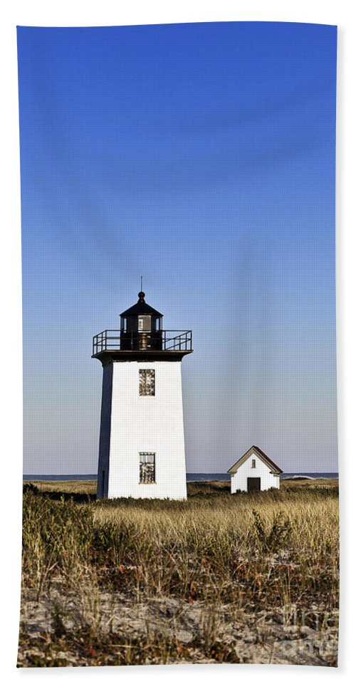 Cape Cod Beach Towel featuring the photograph Long Point Lighthouse by John Greim