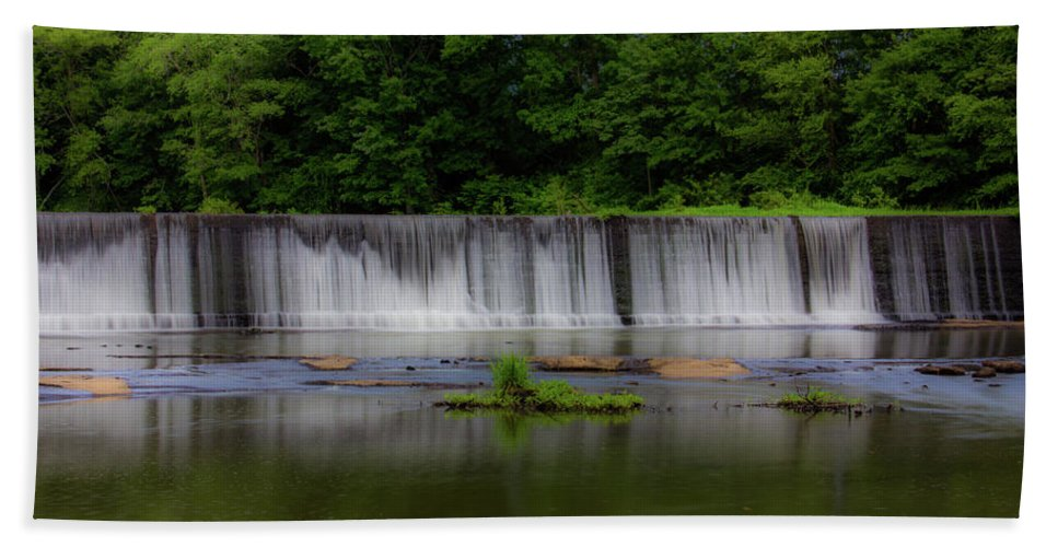 Atlanta Beach Towel featuring the photograph Long Waterfall by Kenny Thomas