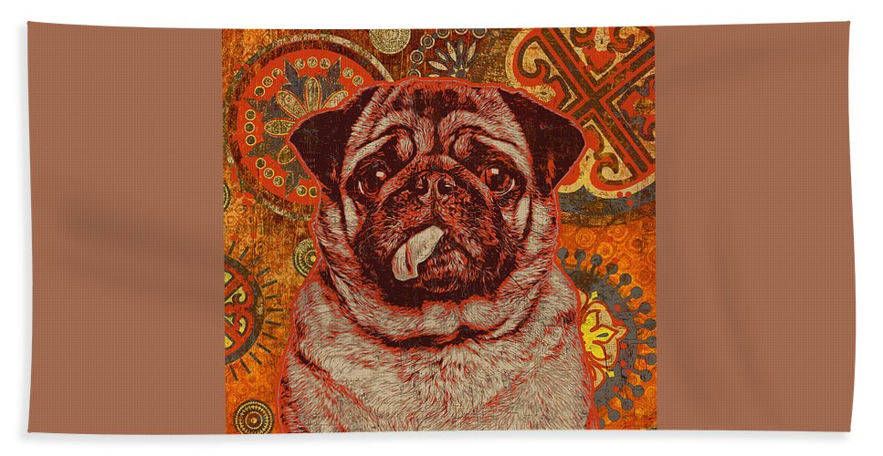 Beach Towel featuring the digital art Longas by Angela Esquivel