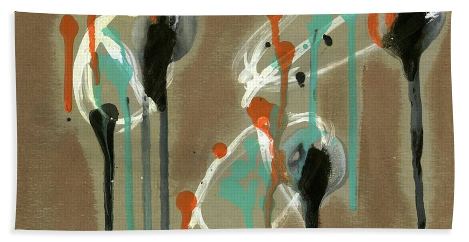Look Beach Towel featuring the painting Look by David Jacobi