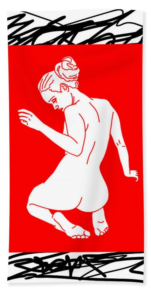 Woman Beach Towel featuring the digital art Lookin Back by Canvas Cultures
