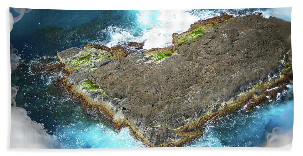 Island Beach Towel featuring the photograph Looking Down by Douglas Barnard
