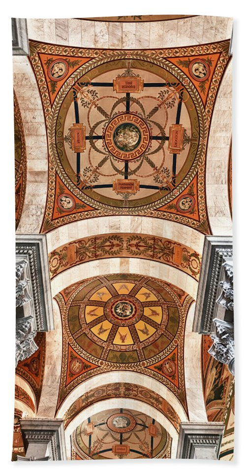 Architecture Beach Towel featuring the photograph Looking Up by Janet Fikar
