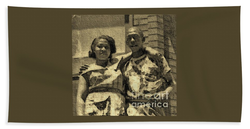 Couple Beach Towel featuring the photograph Lorenzo Madgie And Angela by Angela L Walker