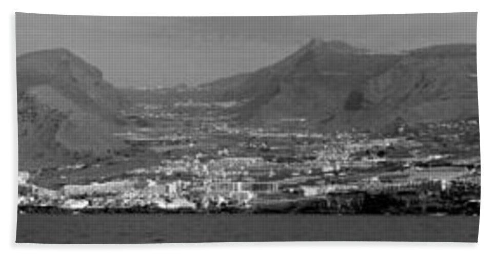 Valasretki Beach Towel featuring the photograph Los Gigantes Panorama 3 by Jouko Lehto