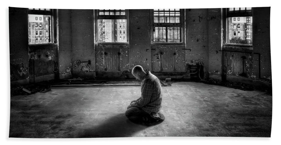 Pilgrim Beach Towel featuring the photograph Losing My Religion by Evelina Kremsdorf
