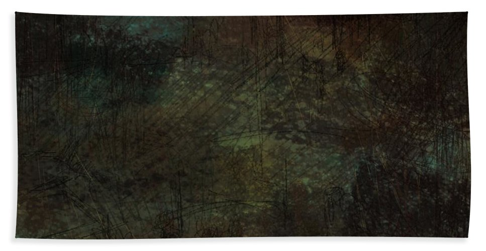 Abstract Beach Towel featuring the digital art Lost Memories by Rachel Christine Nowicki