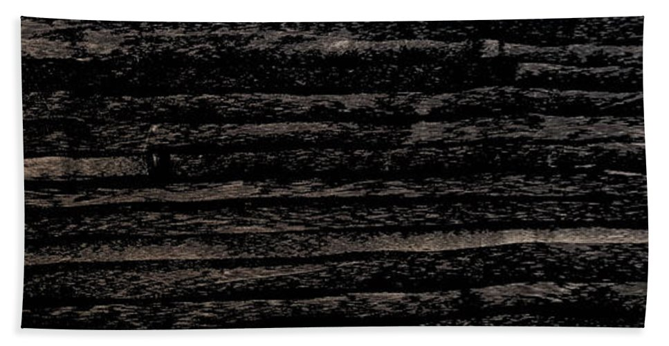 Charcoal Beach Towel featuring the mixed media Lost by Nour Refaat