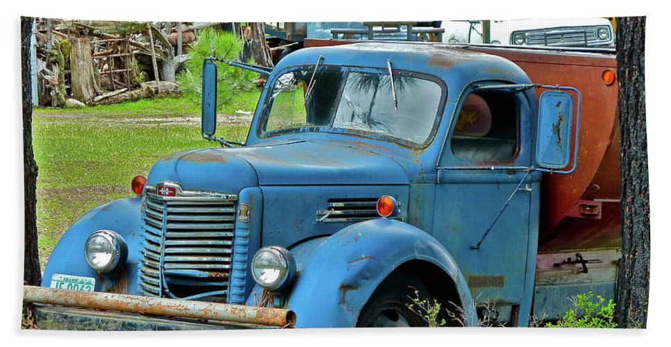 Truck Beach Towel featuring the photograph Lost Pride by Diana Hatcher