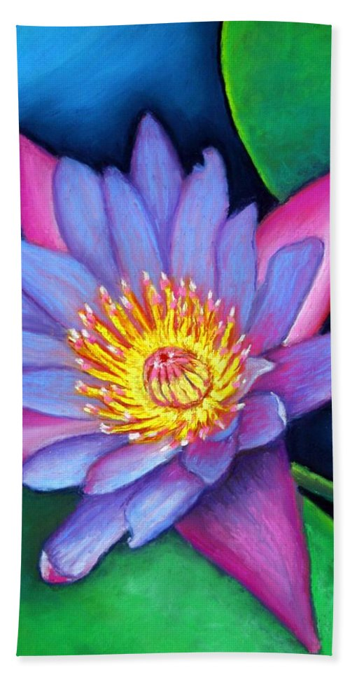 Flower Beach Towel featuring the painting Lotus Divine by Minaz Jantz