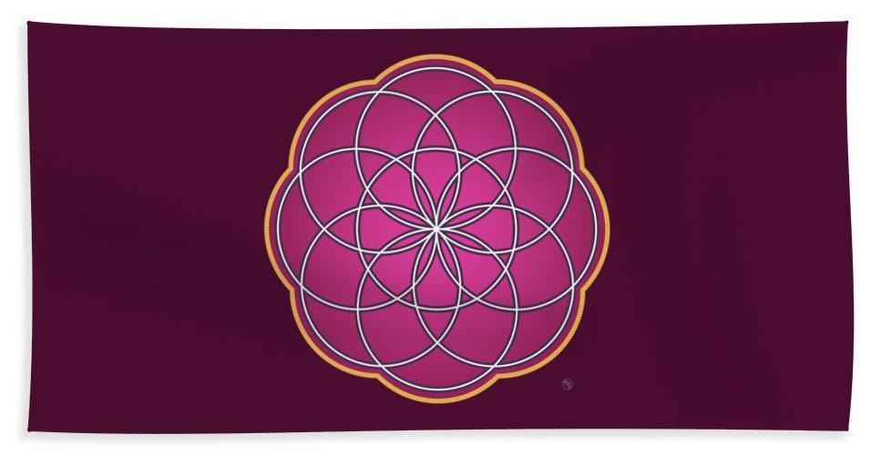 Lotus Beach Towel featuring the digital art Lotus by Ruruflo