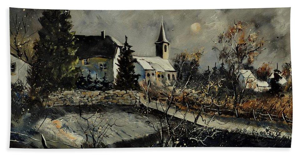 Landscape Beach Towel featuring the painting Louette St Denis by Pol Ledent