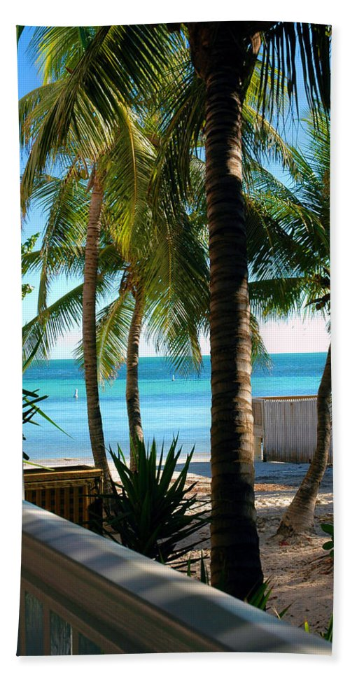 Photos Of Key West Beach Towel featuring the photograph Louie's Backyard by Susanne Van Hulst