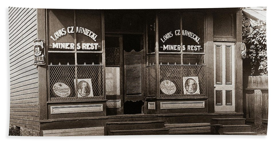 Louis Czarniecki Beach Towel featuring the photograph Louis Czarniecki Miners Rest 209 George Ave Parsons Pennsylvania by Arthur Miller