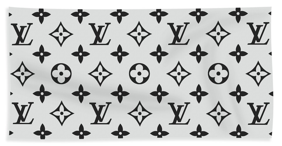 30c39766756 Louis Vuitton Pattern Lv 07 Grey Beach Sheet