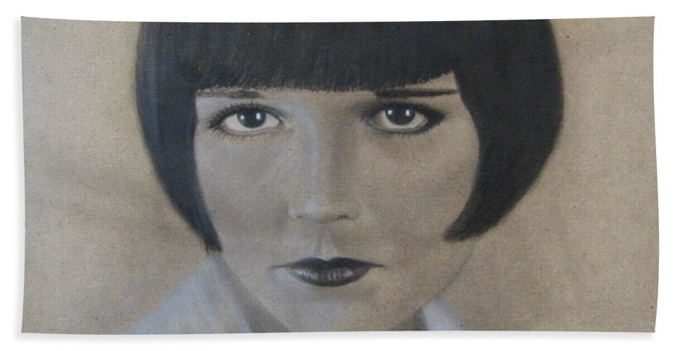 Woman Beach Towel featuring the painting Louise by Lynet McDonald