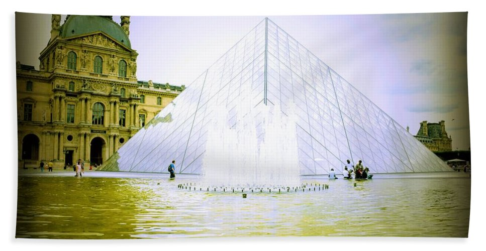 Louvre Museum Beach Towel featuring the photograph Louvre Museum by Dilek Biville