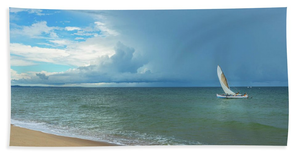 Sun Beach Towel featuring the photograph Love And Serenity by Louloua Asgaraly